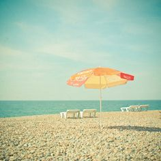 "SALE! Orange Umbrella 8x8"" Print £3.00"