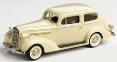 Brooklin Models Lansdowne 1/43 scale model of the1936 Buick Special Victoria Coupe M-48 diecast in white metal with photo-etched details.
