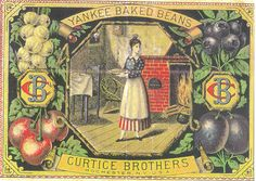 Yankee Baked Beans label