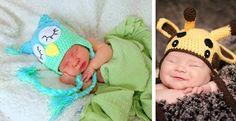 Newborn Baby Character Hats….Owls, Monkeys, Giraffes and more!