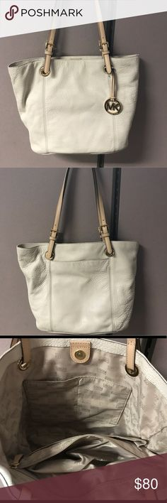 Authentic Michael Kors tote Off white with gold accents Michael Kors tote Michael Kors Collection Bags Totes