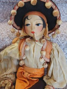 Blossom Smoker Boudoir Bed Doll in Original Mexican Costume