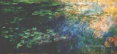 Claude Monet Reflections On The Water oil painting reproductions for sale