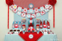 The race car theme seems so fitting for Hank's upcoming first birthday!