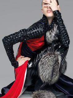 Sam Jonah, Robbi G & Anna Cleveland obter alta moda para 032c Revista Inverno 2015 por Pierre Debusschere [de moda]