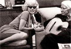 Marilyn and Carl Sandburg 1961