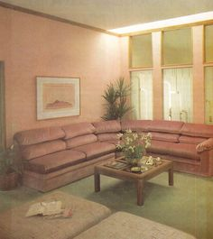 1980s Living Room Furniture Excellent Dusty Rose A Popular Color for 90 S Living Spaces and Faux Leather