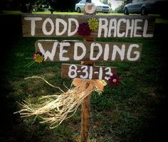 Country wedding sign, Hodgenville Ky