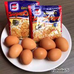 Good Food, Yummy Food, Indonesian Food, Creative Food, Food Videos, Food To Make, Food And Drink, Eggs, Cooking Recipes