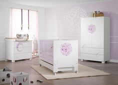 Dormitorio de la colección Lunar en lila de Micuna