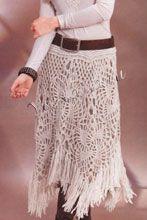 Вязание юбки крючком. Схема вязания юбки крючком