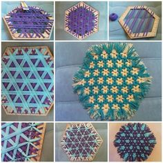 How to DIY Hexagon Lap Weave Coaster » Cool Creativity