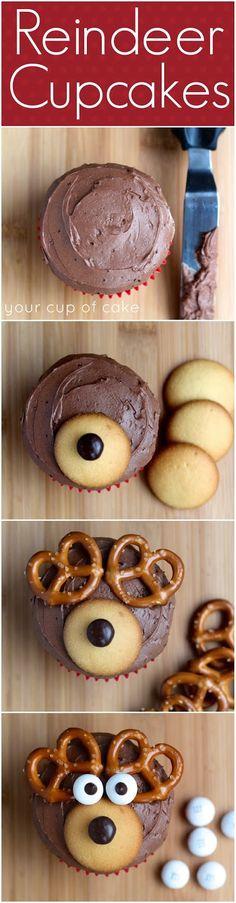 ❃♕ How to make reindeer cupcakes