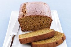 Pumpkin Loaf-----Sick of banana and carrot cakes? Why not try this delicious pumpkin loaf for something different. Nutrition: Energy: 1300kj, Fat Saturated: 6.00g, Fat Total: 10.00g, Carbohydrates Sugars: 28.00g, Carbohydrates Total: 48.00g, Dietary Fibre: g, Protein: 6.00g, Cholesterol: mg, Sodium: 386.96mg. Nutrition Values are per serve. Preparation: 0:20, Cook: 0.15, Ingredients: 10, Difficulty: Easy, Average Rating: 5 out of 5 stars.