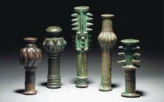 Luristan bronze maces head, 1000 B.C. Iran. Private collection