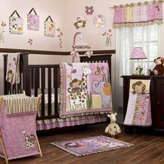 Lustige Dschungel Dekoration im Kinderzimmer – 15 schöne Beispiele - dschungel dekoration im kinderzimmer rosa braun