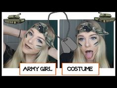 Army Girl Costume | HALLOWEEK DAY 3 - Lovey James - YouTube