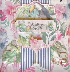 1 of 3 gorgeous cards created by the FABulous Vanessa Bester from South Africa using FabScraps C108 Pink Lemonade collection.