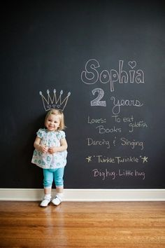 Great idea for yearly kid pictures. #photographytips
