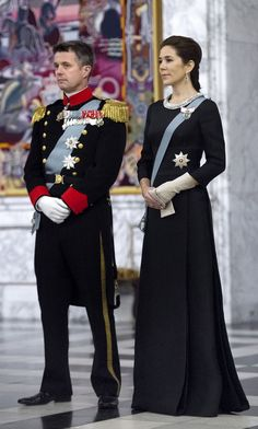 Crown Prince Frederik and  Crown Princess Mary of Denmark 1/6/15