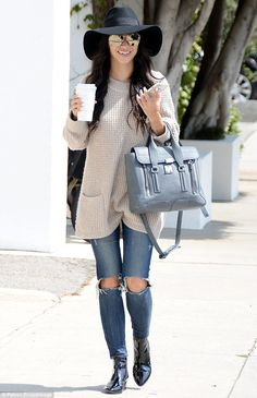 Style-savvy: Cara Santana looked ultra-stylish as she hit West Hollywood for coffee on Wed...