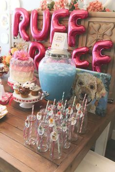 Fantastic puppy birthday party! See more party planning ideas at CatchMyParty.com!