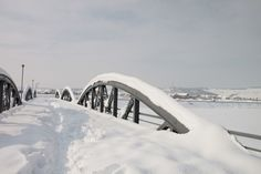Iron Bridge under Snow Public Domain, Bridges, Winter, Photos, Pictures