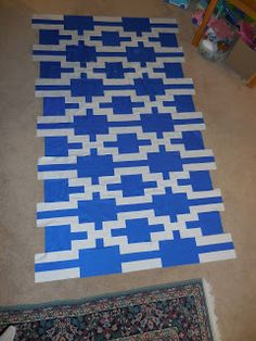 Do you look at pictures & patterns and mentally disect them into blocks and change up their colorway?   I do!     I needed a masculine BYU ...