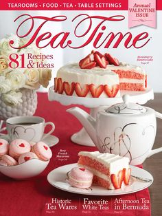 Enjoy these decadent Chocolate-Peanut Butter Brownies at your next chocolate-themed tea. Tea Time Magazine, Tea Table Settings, Strawberry Hearts, Tea And Books, My Cup Of Tea, Strawberry Recipes, Tea Recipes, High Tea, Quick Easy Meals