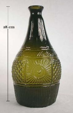 Early American New England geometric decanter; click to enlarge.
