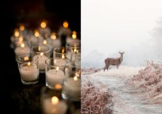 Candle Lights and Winter Scenes