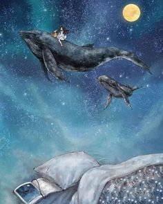 Illustrations By Korean Artist Show The Happiness And Tranquility Comes With Solitude Whale Art, Animal Art, Fantasy Art, Amazing Art, Korean Artist, Cute Art, Art, Forest Illustration, Ocean Art