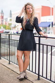 Zest Day Of My Life Dress, Black $42.00