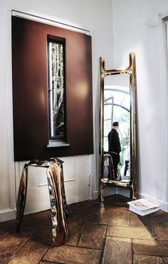 Plopp stool and drab mirror at Rossana Orland gallery. #milan2018 #milan #milano #salondelmobile #salonedelmobile2018 #isaloni #isaloni2018 #saldelmobile #milandesignweek #milandesignweek2018 #zieta #zietaprozessdesign #rossanaorlandi #fuorisalone #plopp #stool