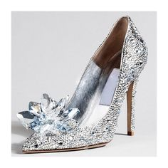 Shoespie Rhinestone Pointed Toe Stiletto Crystal Heels ($95) ❤ liked on Polyvore featuring shoes, pumps, pointy toe stilettos, crystal stilettos, rhinestone shoes, heels stilettos and high heel stilettos