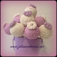 Lavender Flower Love Cake Pops by jillssweettreats on Etsy, $28.00