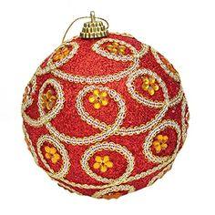 EOZY 10er Set Weihnachtskugel Deko Glänzend Baumschmuck Anhänger Christmas  Ball (Rot 2)