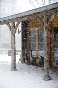 Idílica cabaña bajo un manto de nieve | Etxekodeco