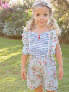 Vintage Inspired Our Sweet Little Elsie Playsuit Will Make You Smile. Boho Flower Girl, Floral Playsuit, Playsuits, Red Shoes, Baby Design, Vintage Inspired, Girl Outfits, Raincoat, Rompers