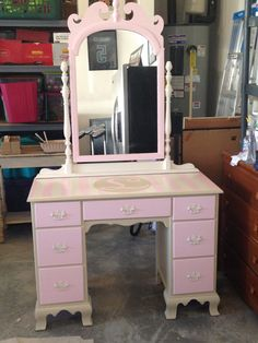 Lovely- Vintage dressing table customized with monogram by LexieandtheChi, $150.00