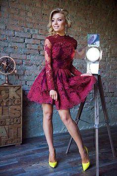 Купить или заказать Кружевное платье Ажур в интернет-магазине на Ярмарке Мастеров. Это просто фейерверк!Восхитительное платье! Изумительное кордовое итальянское кружево и милый фасон! Мы не останетесь без внимания и собираете море комплиментов))) проверено на себе ))) Огромный выбор цветов кружева!