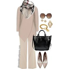 This is definitely my style! - Plus Size - Work Look by alexawebb on Polyvore featuring Zara, Burberry, Michael Kors, Carolee, Chloé, Chanel, outfit, Work, plus and size