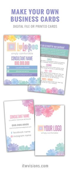 Business Card Templates And Marketing Materials