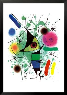 The Singing Fish Pre-made Frame by Joan Miró