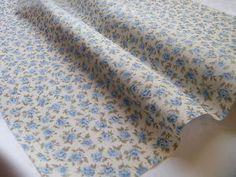 100-Cotton-Fabric-Vintage-Rose Vintage Floral Fabric, Vintage Roses, Mitten Gloves, Mittens, Blue Bunting, Fabric Material, Dressmaking, Poplin, Bag Accessories