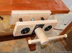 wood vise plans | Homemade Wood Vise - PDF Plans 8x10x12x14x16x18x20x22x24 DIY ...