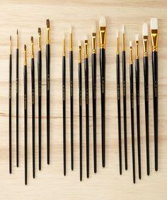 Look what I found on #zulily! 18-Piece Versatile Brush Set by Art Advantage #zulilyfinds