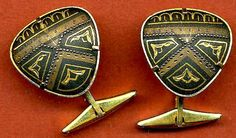 vintage french cufflinks 1950 gold filled. $19.95, via Etsy.