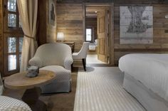 Sheltering amidst the snow-laded pines, Chalet Gentianes is one of the most sought-after luxury ski chalets in Courchevel France. This is a ski in and out chic mountain retreat with only a five minute Chalet Chic, Hotel Chalet, Chalet Style, Ski Chalet, Alpine Chalet, Chalet Design, House Design, Design Design, Design Ideas