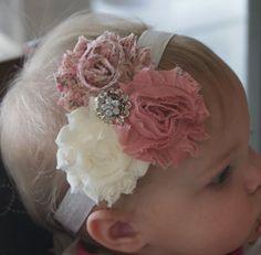 Newborn Headband-Baby Girl Headband-Baby Headband-Baby-Baby Girl-Vintage Inspired Headband-Baby Headbands-Infant Headband-Headband. $6.50, via Etsy.